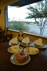 Pie and one donut at Bluebonnet Cafe.
